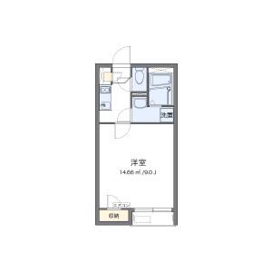 1K Apartment in Mukaijima - Okawa-shi Floorplan