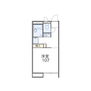 1K Apartment in Saiwaicho - Narita-shi Floorplan