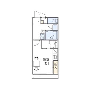 1K Apartment in Higashinaniwacho - Amagasaki-shi Floorplan