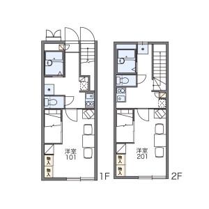福岡市東區松崎-1K公寓 房間格局