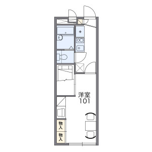 1K Apartment in Yamatocho - Itabashi-ku Floorplan