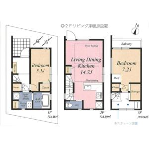 2LDK {building type} in Daita - Setagaya-ku Floorplan