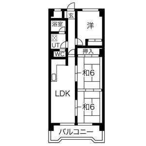 3LDK Mansion in Toeicho - Owariasahi-shi Floorplan