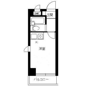 1R Mansion in Minamicho - Warabi-shi Floorplan