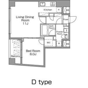 1LDK Mansion in Ebisuminami - Shibuya-ku Floorplan