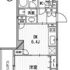 在港区内租赁1DK 公寓大厦 的 楼层布局
