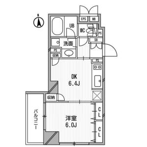 港区芝(4、5丁目)-1DK公寓大厦 楼层布局