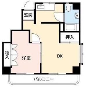 1DK {building type} in Shinjuku - Shinjuku-ku Floorplan