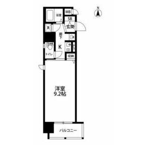 1K Mansion in Ryuzojicho - Osaka-shi Chuo-ku Floorplan
