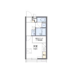 1K Apartment in Fukakusa gokurakujicho - Kyoto-shi Fushimi-ku Floorplan