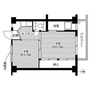 2K Mansion in Kazurayama - Susono-shi Floorplan