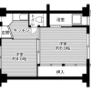 2K Apartment to Rent in Ogaki-shi Floorplan