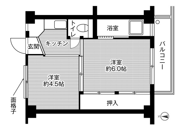2K Apartment to Rent in Ichinomiya-shi Floorplan