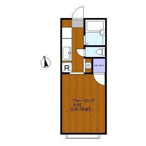 1R Apartment in Tamagawadai - Setagaya-ku Floorplan