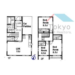 3LDK House in Kamisaginomiya - Nakano-ku Floorplan