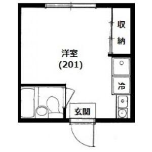1R Apartment in Hatanodai - Shinagawa-ku Floorplan