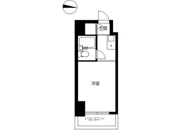 1R Apartment to Rent in Suginami-ku Floorplan