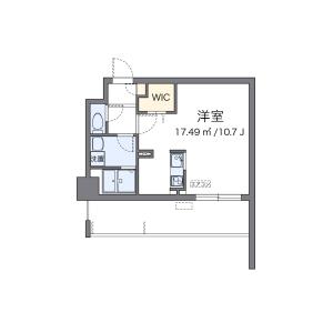 1R Mansion in Uchiyama - Nagoya-shi Chikusa-ku Floorplan