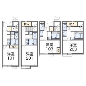 1K Apartment in Inogata - Komae-shi Floorplan