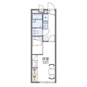 名古屋市天白區池場-1K公寓 房間格局