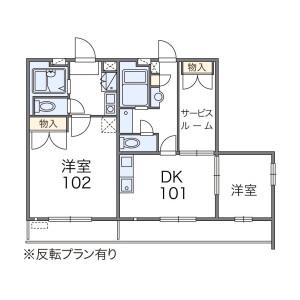 1K Mansion in Nakamiya hommachi - Hirakata-shi Floorplan