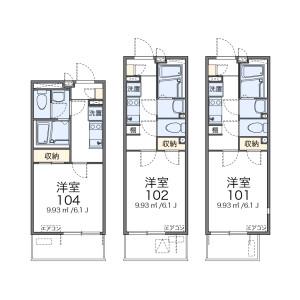 1K Apartment in Azumacho - Saitama-shi Omiya-ku Floorplan