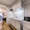 1R Serviced Apartment to Rent in Osaka-shi Yodogawa-ku Kitchen