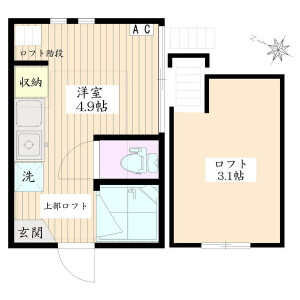1R Apartment in Hatsudai - Shibuya-ku Floorplan