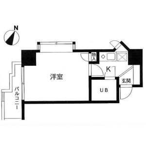 1K Mansion in Kitasaiwai - Yokohama-shi Nishi-ku Floorplan
