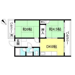 2DK Mansion in Katamachi - Fuchu-shi Floorplan