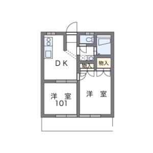2DK Apartment in Higashihara - Zama-shi Floorplan