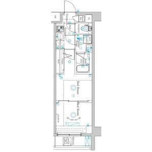 1DK Mansion in Nishirokugo - Ota-ku Floorplan