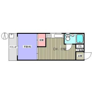 1DK Mansion in Higashinakano - Nakano-ku Floorplan