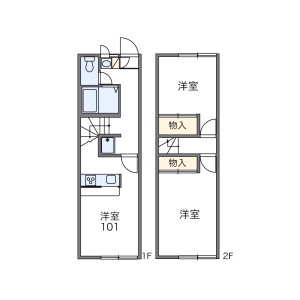2DK Apartment in Shindenjuku - Zama-shi Floorplan