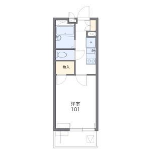 1K 아파트 in Tonomachi - Kawasaki-shi Kawasaki-ku Floorplan