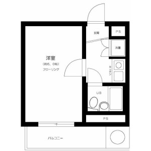 1K Mansion in Denenchofu minami - Ota-ku Floorplan