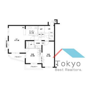 2LDK Mansion in Kitazawa - Setagaya-ku Floorplan