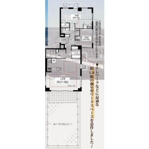 2LDK {building type} in Takaidonishi - Suginami-ku Floorplan