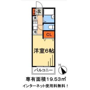 1K Mansion in Shimokaizuka - Ichikawa-shi Floorplan