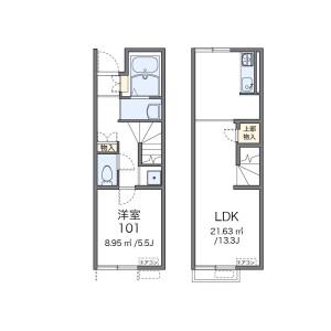 1LDK Apartment in Sunjiyata - Osaka-shi Higashisumiyoshi-ku Floorplan