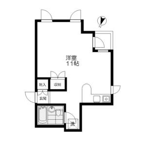 1R Mansion in Kamiikedai - Ota-ku Floorplan