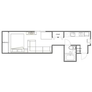 1K Mansion in Kamezawa - Sumida-ku Floorplan