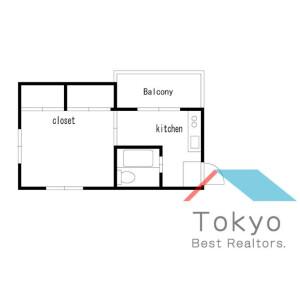 新宿区大久保-1K公寓大厦 楼层布局