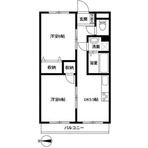 2DK Mansion in Maedacho - Yokohama-shi Totsuka-ku Floorplan