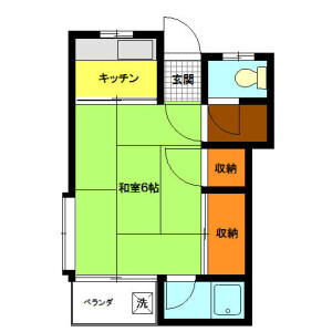 1K Apartment in Tamagawa - Setagaya-ku Floorplan