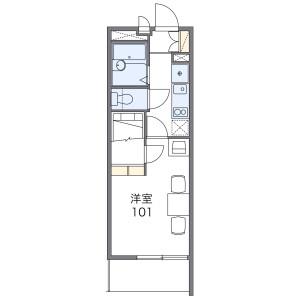 1K Apartment in Magamoto - Saitama-shi Minami-ku Floorplan