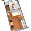 1K Apartment to Rent in Sapporo-shi Shiroishi-ku Floorplan