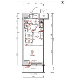 1K {building type} in Kitasuna - Koto-ku Floorplan