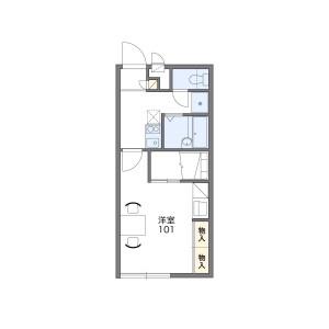 1K Apartment in Takabaridai - Nagoya-shi Meito-ku Floorplan