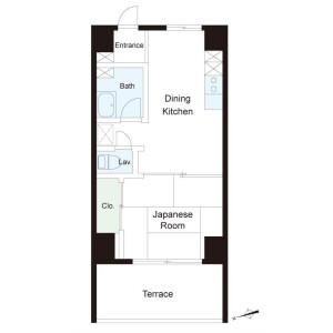 1R {building type} in Roppongi - Minato-ku Floorplan